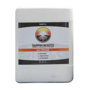 5 gallon jug of Tappin' Roots Organic Commercial Solutions All Phase Part A